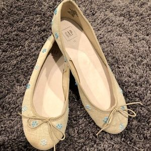 Gap Ballet Flats - Embroidered fabric Size 10